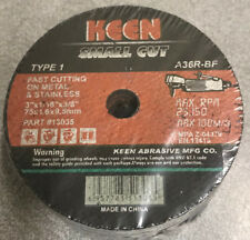 "Keen Abrasives 25-Pieces 3"" X 1/16"" Cut-Off Wheels Disc Metal/Stainless"