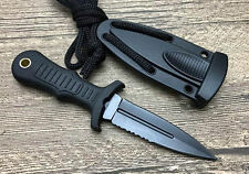 Sharp Necklace FULL TANG utility dagger tactical camping rescue hunting knife