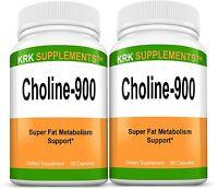 2x Choline Bitartrate 900mg Brain Memory Booster Phosphatidylcholine