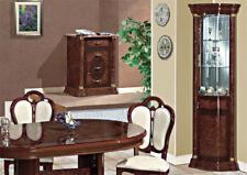 Eckvitrine Wohnzimmer Esszimmer Eckschrank Nussbaum Hochglanz Stil Möbel Italien
