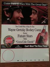 WAYNE GRETZKY Coca Cola Future Stars Hockey Camp Poster - LA Kings NYR Oilers