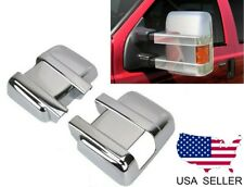 For 2008-2016 Ford F250 F350 SuperDuty Chrome Full Mirror Covers W/ Turn Signal