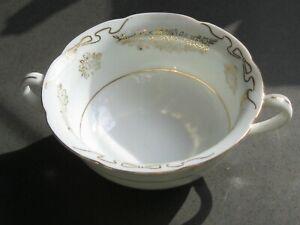 antique sugar bowl - gold trim - Japan