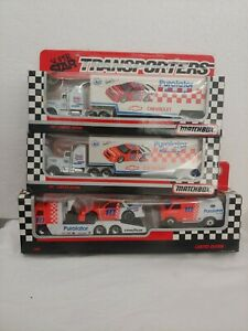 MATCHBOX Team Convoy PUROLATOR DERRICK COPE NASCAR Transporter Truck 3 Set Lot