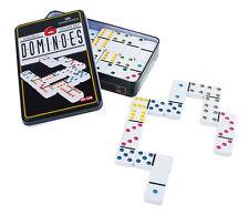 Dominospiel 28 etwas größere Dominosteine in Weiß für Kinder+Erwachsene
