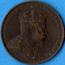 Canada Newfoundland 1904 H 1 Cent One Large Cent Coin - Very Fine