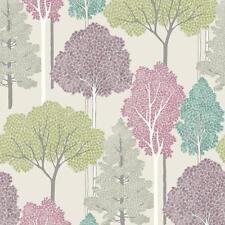 Arthouse ellwood Tree Pattern FORESTA FOGLIE Motif GLITTER Carta da parati rotolo Multi