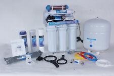 6 Stufige Osmose Osmoseanlage mit Keramik + Booster RO50BP -06 50G NSF