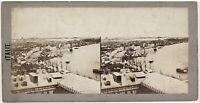 Venezia Panorama Italia Foto Stereo Th1L8n Vintage Albumina c1860