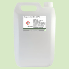 Phosphoric Acid 85% ACS Food Grade Rust Remover 5 Litre (5L)