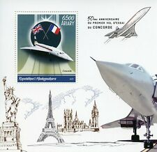 Madagascar Aviation Stamps 2019 MNH Concorde First Flight Test 50th Anniv 1v S/S