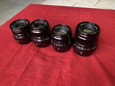 Set Of 4 Mint Fujifilm XF WR Prime Lenses, 16mm F2.8, 23mm F2, 35mm F2, 50mm F2