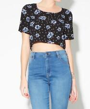 SUBTITLED Spotty Floral Crop Top Size 6
