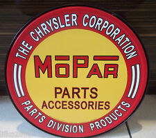 "MOPAR / CHRYSLER PARTS & ACCESSORIES, ROUND 12"" METAL WALL SIGN PLYMOUTH/DODGE"