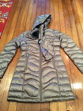 Ladies Andrew Marc Packable Long Premium Down Coat Jacket Taupe BNWT Extra Small
