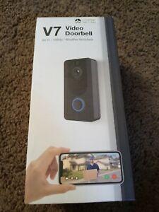 V7 Video Doorbell Wifi/1080p/Weather Resistant  NEW
