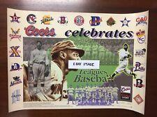 1997 Coors Light Beer NEGRO BASEBALL LEAGUES COMMEMORATIVE POSTER! Satchel Paige