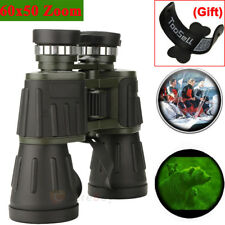 Day Night Vision 60x50 Zoom Outdoor Travel HD Binoculars Hunting Telescope +Case