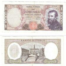 Banca D' Italia Lire Diecimila (10000) 1962 Banknote Michelangelo SN:L0561015558