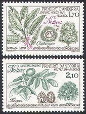 Andorra 1984 noce/CASTAGNO/Protezione della natura/alberi/FOOD/Dadi Set 2 V (n41857)