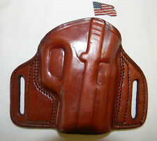 TAGUA BROWN LEATHER OPEN TOP OWB BELT HOLSTER - TAURUS MILLENIUM PT 111 140 G2