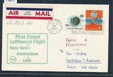 14605) LH FF onu New York-Amsterdam 1.4.67, Card