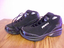 AND1 Black Shoes Boys Size 4, Sneaker, Lace Up, BTS - EUC