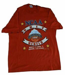 Vintage 1990 NCAA Final Four Champions UNLV Rebels Basketball T Shirt Sz XL New
