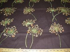 "~BTY~""FLOWERS""~AWSOME EMBROIDERED LINEN UPHOLSTERY FABRIC FOR LESS~"