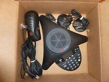 Polycom SoundStation2 SoundStation 2 Ex Phone w/ 2 Mics Power GOOD SHAPE!