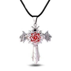 VAMPIRE KNIGHT CROSS NECKLACE Tattoo Symbol Pendant Kaname Kuran Yuki Anime