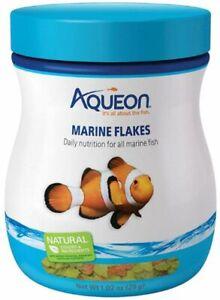 Aqueon Marine Flakes Fish Food 1.02oz Jar CLOSEOUT