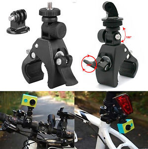 Bicycle Bike Motorcycle Handlebar Mount Holder Clamp For Camcorder Camera Black