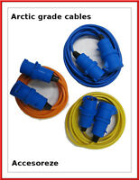 Camping Hook Up Cable 16A Site Extension Lead Electric Blue,Yellow,Orange 240V
