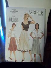 Vogue Ladies Skirt (variations) Pattern 7735 Uncut, Sizes 6-8-10