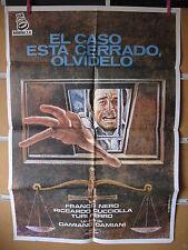 A678 EL CASO ESTA CERRADO, OLVIDELO. FRANCO NERO, RICCARDO CUCCIOLLA, TURI FERRO