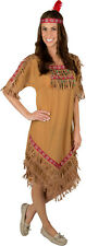 Native American Indian Princess Woman Costume with Headband for Adults