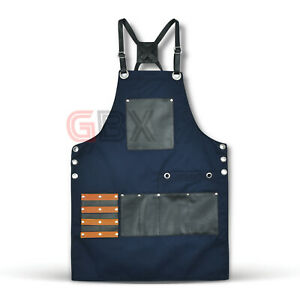 New Professional Blue PU Leather Hairdressing Barber Apron Cape Barber Hairstyli
