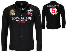 Geographical Norway camisa de manga larga para hombre Real club casual Bestrickt S negro