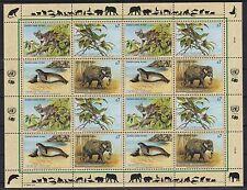 UNO Wien 1994 postfrisch MiNr.  162-165  Gefährdete Arten