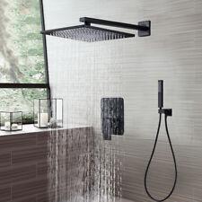 "16""Oil Rubbed Bronze Rain Shower Combo Set Wall Mount Shower Head W/Hand Shower"