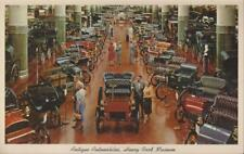 Dearborn Michigan Henry Ford Museum 175 Antique Automobiles Vintage PC Rare