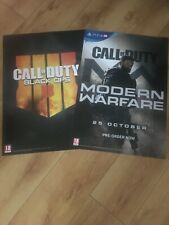Call of duty official A2 promo launch posters x2 rare new