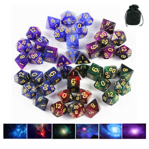 New Galaxy Dice Set - 42pcs with Pouch