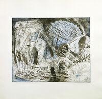 Kunst in der DDR, 1979. Farbradierung Ullrich PANNDORF (*1954 D) handsigniert