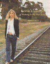 Vintage print Radio Music Promo ad Sophie B Hawkins Walking in my Blue Jeans