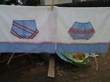 Vintage Pair His/Hers Bloomers/Undies Hand Made Standard Pillowcases-New/Unused