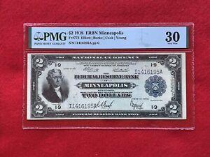 "FR-773 1918 Series $2 Minneapolis FRBN ""BATTLESHIP"" *PMG 30 Very Fine*"