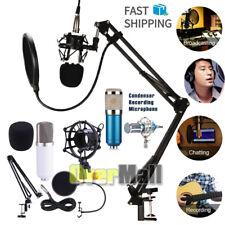 Professional Audio Condenser Microphone Mic Kit Vocal Studio Recording Set Mount