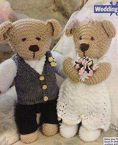 Bride & Groom Wedding TeddyBears Knitting Pattern
